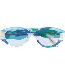 retrosuperfuture drew mama camouflage sunglasses - blue