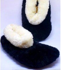 pantufa unissex preta e branca