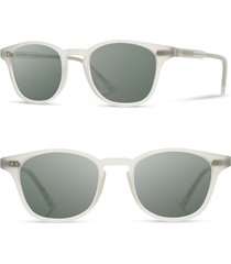men's shwood kennedy 50mm polarized sunglasses - bone