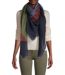 colorblock cashmere & silk-blend shawl