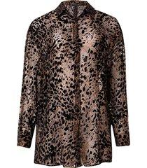 camisa leopard (estampado, gg)