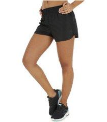 shorts oxer rum basic - feminino - preto