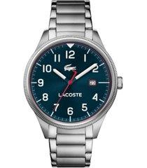 lacoste men's continental stainless steel bracelet watch 43mm