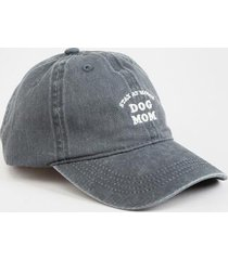 stay at home dog mom baseball hat - charcoal