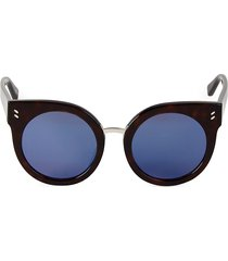 stella mccartney women's 52mm cat eye round sunglasses - brown
