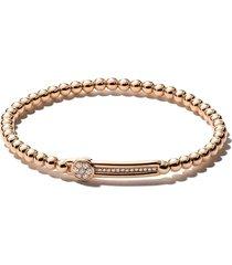 as29 alf single round extendable diamond bracelet - gold