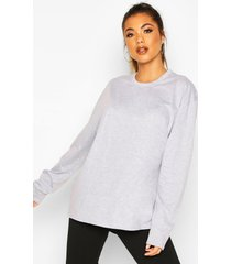 soft oversized long sleeve t-shirt, grey