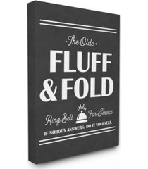 "stupell industries olde fluff and fold ring bell for service canvas wall art, 24"" x 30"""