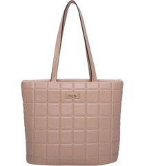 giselle paris women's marseille quilted tote handbag