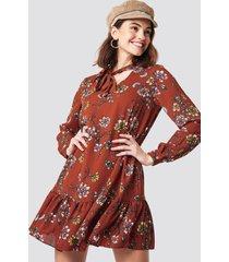 trendyol shawl collar mini dress - orange