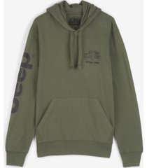 lucky brand men's jeep mineral wash french terry hooded sweatshirt