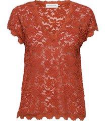 t-shirt ss t-shirts & tops short-sleeved rood rosemunde