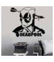 adesivo de parede deadpool 4 - gi 98x114cm