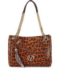 luisa animalier leopard leather shoulder bag