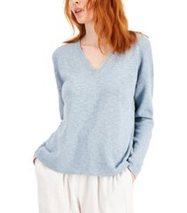 eileen fisher organic cotton & organic linen sweater
