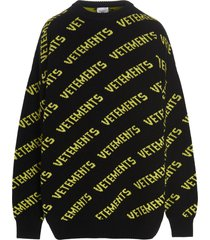 vetements monogram sweater