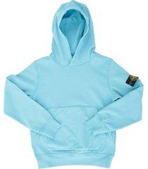 stone island junior l/s hooded sweatshirt