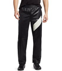 sash coated logo track pants
