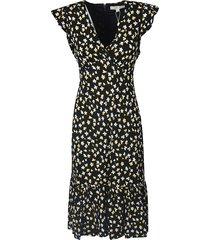 michael kors floral printed v-neck dress
