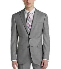 calvin klein x-fit black & white sharkskin modern fit suit