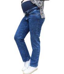 jeans maternal recto blue madremía