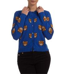 cardigan maglione maglia donna teddy bear