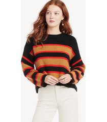 sanctuary women's ezra striped sweater in color: black amber size xs from sole society