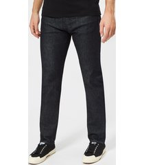 edwin men's ed-80 slim tapered red listed selvedge denim jeans - rinsed - w36/l32 - blue