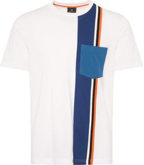 paul smith white block-stripe tee puxd-029s-720