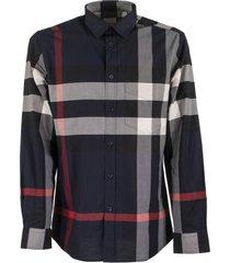 burberry somerton - check stretch cotton poplin shirt