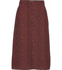 atlas print skirt rok knielengte rood modström