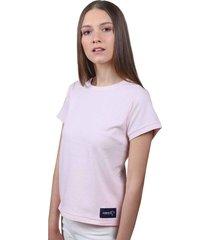 camiseta rosada de algodón - domenica