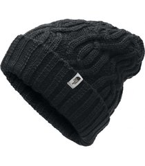 gorro cable minna negro the north face
