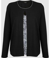 2-in-1-trui paola zwart::zilverkleur