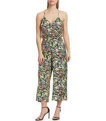 parker women's suze floral jumpsuit - cannes floral - size 8