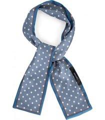 amaro feminino lenço faixa poá, azul