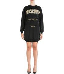 moschino short mini dress long sleeve oversize fit