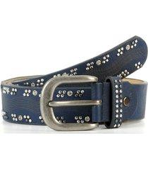cinturon tachas strass azul mailea