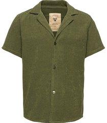 army cuba terry shirt kortärmad skjorta grön oas