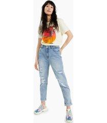 vanilla star juniors' ripped mom jeans