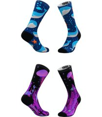 men's and women's deep blue sea socks, set of 2