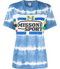m missoni tie-dye jersey t-shirt - blue