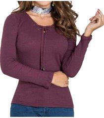 blusa lianna morado para mujer croydon