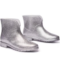 botin de lluvia chelsea impermeables mujer gris