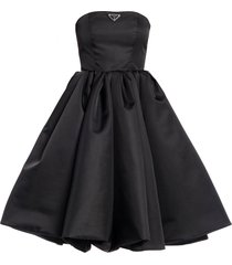 prada re-nylon gabardine corset dress - black