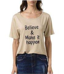 camiseta bloom believe feminina