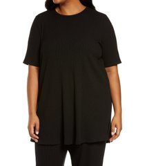 plus size women's eileen fisher ribbed knit tunic