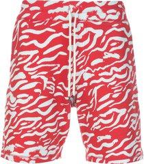 prabal gurung all-over print shorts - red