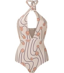 adriana degreas printed swimsuit - multicolour