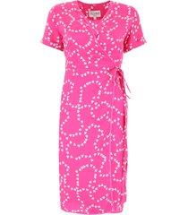 hvn heart-printed vera dress